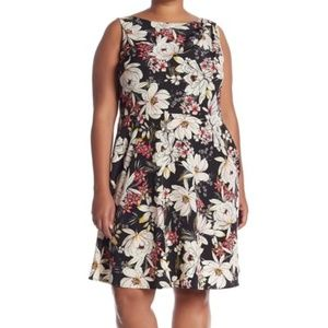 London Times | Floral  Fit & Flare Dress | 14W